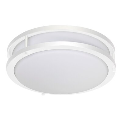 Elenore 1-Light Metal Flush Mount Finish: White, Size: Medium