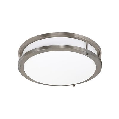 Envisage 1-Light Flush Mount Size: Medium, Finish: Brushed Nickel