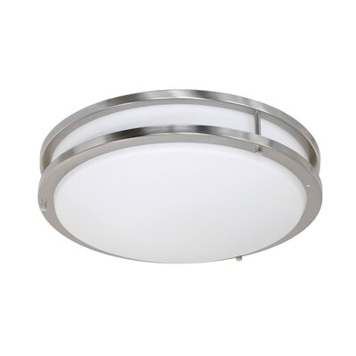 Elenore 1-Light Metal Flush Mount Finish: Chrome, Size: Small