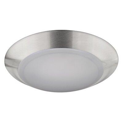 Elenore 1-Light LED Metal Flush Mount Finish: Chrome, Size: Medium