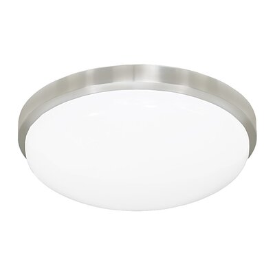 Smotherman Classic Round LED Flush Mount/Wall Sconce Finish: Brushed Aluminum, Size: Medium