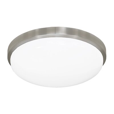 Envisage 1-Light Flush Mount Finish: Brushed Nickel, Size: Medium