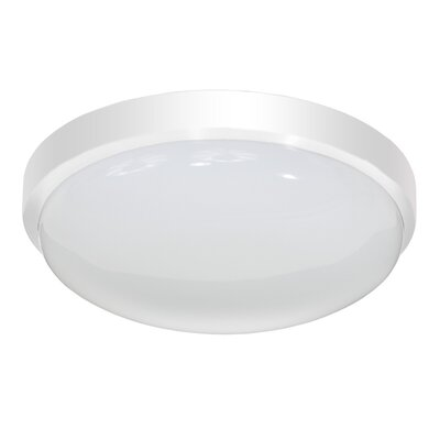 Smotherman Classic Round LED Flush Mount/Wall Sconce Finish: White, Size: Medium