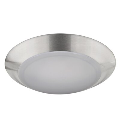 Elenore 1-Light LED Metal Flush Mount Finish: Chrome, Size: Small