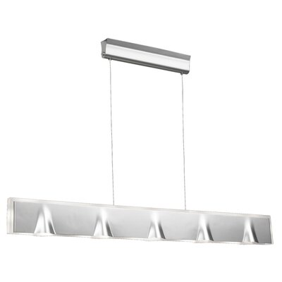 Tempo 5-Light Kitchen Island Pendant Finish: Aluminum