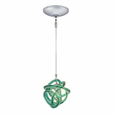 Evisage VI 1-Light Foyer Pendant Finish: Satin Nickel, Shade Color: Teal