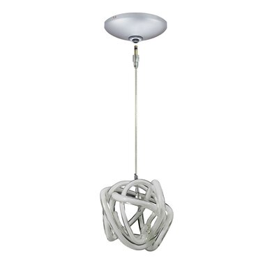 Evisage VI 1-Light Foyer Pendant Shade Color: White, Finish: Satin Nickel