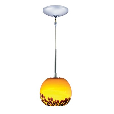 Evisage VI 1-Light Globe Pendant Finish: Chrome