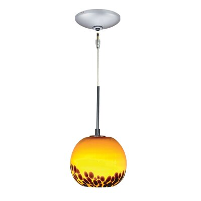 Evisage VI 1-Light Globe Pendant Finish: Satin Nickel