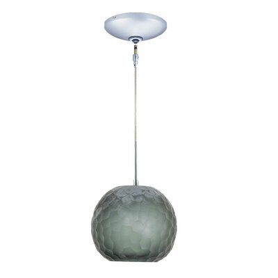 Evisage VI 1-Light Globe Pendant Finish: Chrome, Shade Color: Smoke
