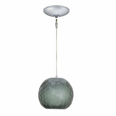 Evisage VI 1-Light Globe Pendant Finish: Satin Nickel, Shade Color: Smoke