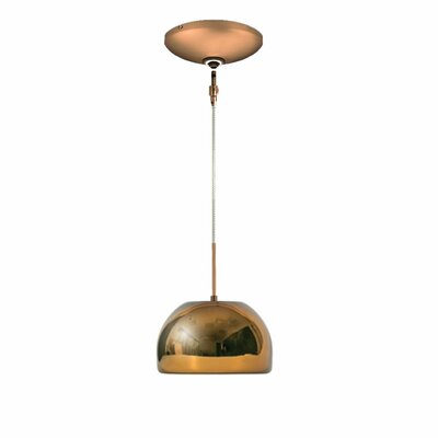 Evisage VI 1-Light Bowl Pendant Finish: Bronze, Shade Color: Chocolate