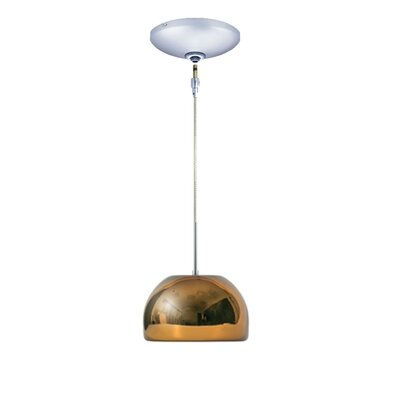Evisage VI 1-Light Bowl Pendant Finish: Chrome, Shade Color: Chocolate