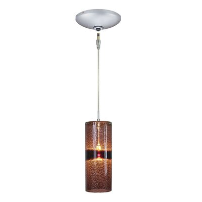 Evisage VI 1-Light Mini Pendant Finish: Satin Nickel, Shade Color: Purple