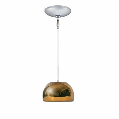 Evisage VI 1-Light Bowl Pendant Shade Color: Chocolate, Finish: Satin Nickel