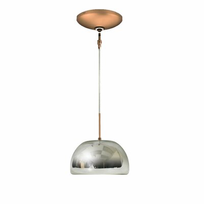 Evisage VI 1-Light Bowl Pendant Finish: Bronze, Shade Color: Chrome