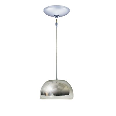 Evisage VI 1-Light Bowl Pendant Finish: Chrome, Shade Color: Chrome