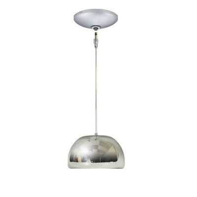 Evisage VI 1-Light Bowl Pendant Finish: Satin Nickel, Shade Color: Chrome