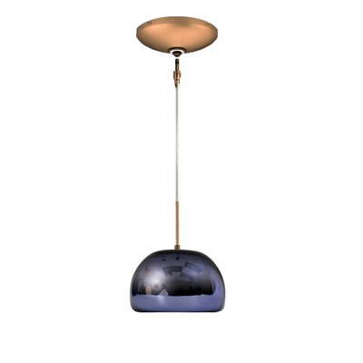 Evisage VI 1-Light Bowl Pendant Finish: Bronze, Shade Color: Purple
