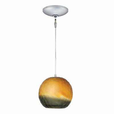 Evisage VI 1-Light Globe Pendant Finish: Satin Nickel, Shade Color: Bronze/Smoke