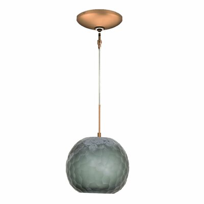 Evisage VI 1-Light Globe Pendant Finish: Bronze, Shade Color: Smoke