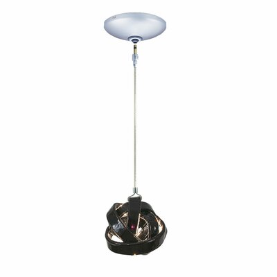 Evisage VI 1-Light Foyer Pendant Finish: Chrome, Shade Color: Clear