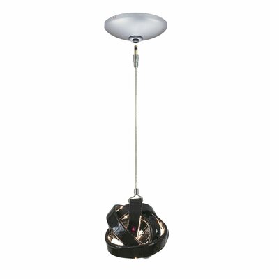 Evisage VI 1-Light Foyer Pendant Finish: Satin Nickel, Shade Color: Clear