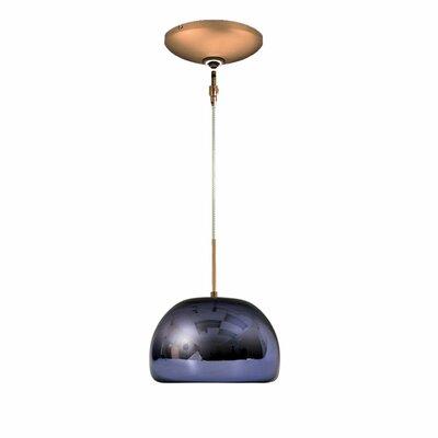 Evisage VI 1-Light Bowl Pendant Finish: Bronze, Shade Color: Purple