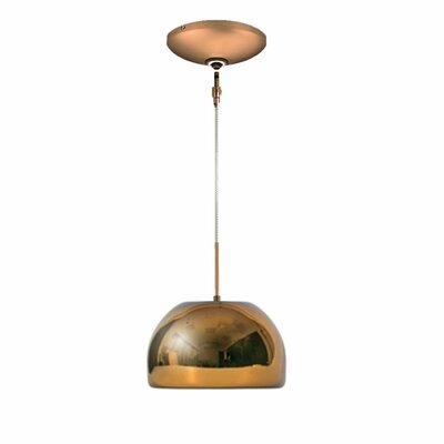 Evisage VI 1-Light Bowl Pendant Finish: Bronze, Shade Color: Chocolate