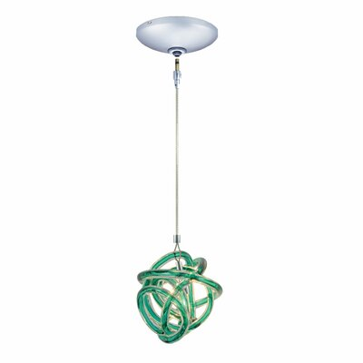 Evisage VI 1-Light Foyer Pendant Finish: Chrome, Shade Color: Teal