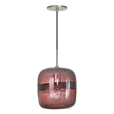 Evisage VI 1-Light Mini Pendant Shade Color: Purple, Finish: Brushed Nickel