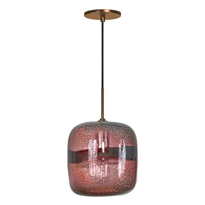Evisage VI 1-Light Mini Pendant Finish: Bronze, Shade Color: Purple
