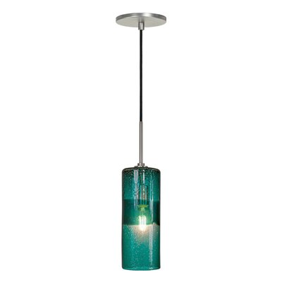 Parthenia 1-Light Mini Pendant Finish: Brushed Nickel, Shade Color: Teal