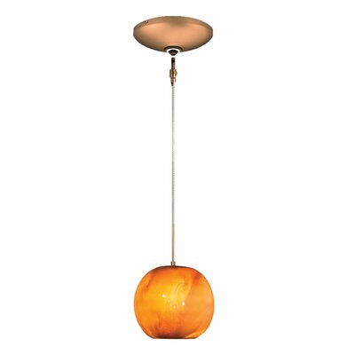Evisage VI 1-Light Globe Pendant Finish: Bronze