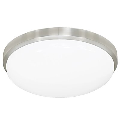 Smotherman Classic Round LED Flush Mount/Wall Sconce Finish: Brushed Aluminum, Size: Small