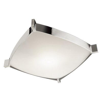 Linea 4-Light Flush Mount Size: 4.5 H x 19.75 W x 19.75 D