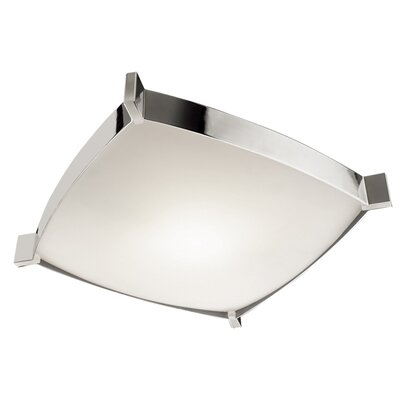 Linea 4-Light Flush Mount Size: 4.13 H x 15.75 W x 15.75 D