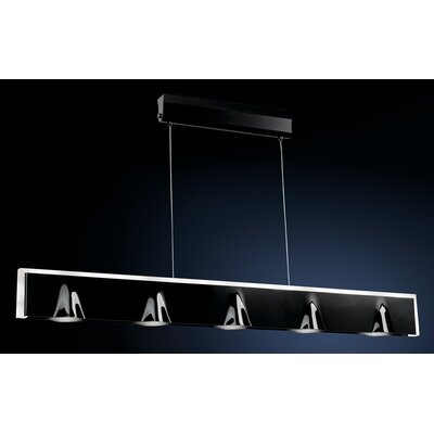 Tempo 5-Light Kitchen Island Pendant Finish: Black