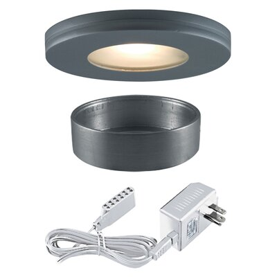 Slim Disk Halogen Under Cabinet Recessed Light Kit Finish: Silver Gray
