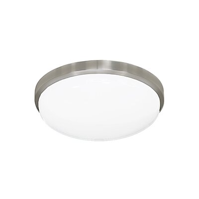 Elenore 1-Light Modern Flush Mount Finish: Brushed Nickel, Size: Small