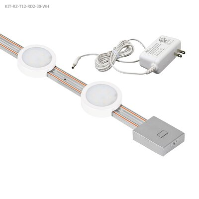 Radianz 12 LED Under Cabinet Strip Light Finish: White