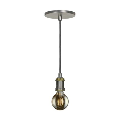 Evisage VI 1-Light Mini Pendant Finish: Brass
