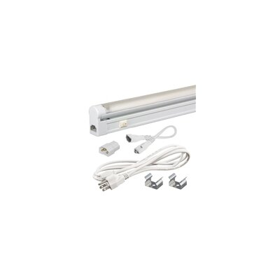 Sleek Plus 13.75 Fluorescent Under Cabinet Bar Light Kit Bulb Color Temperature: 3000K