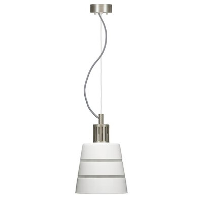 Madison 1-Light Mini Pendant Shade Color: White