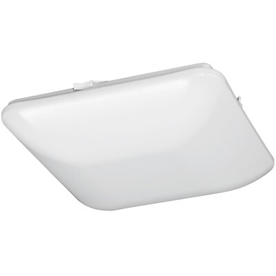 Square Driverless 1-Light Flush Mount Size: 3 H x 14 W x 14 D