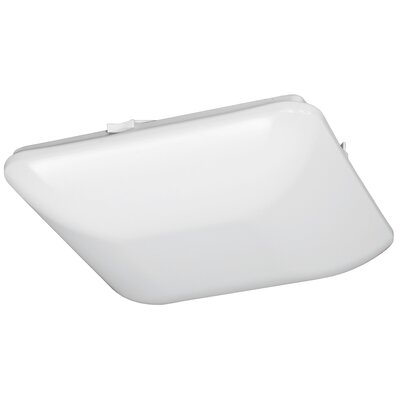 Square Driverless 1-Light Flush Mount Size: 3 H x 11 W x 11 D