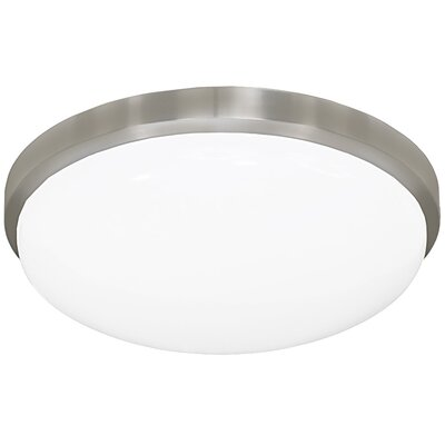 Round Driverless 1-Light Flush Mount Size: 3.88 H x 14.38 W x 14.38 D