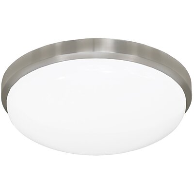 Round Driverless 1-Light Flush Mount Size: 3.5 H x 11.38 W x 11.38 D