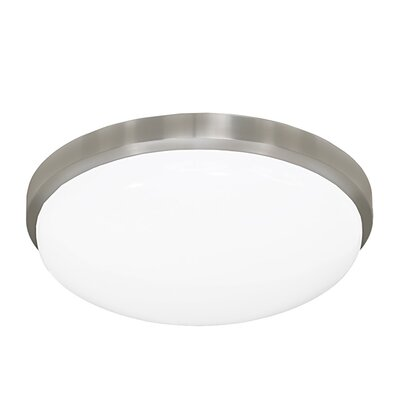 11 Inches Round Driverless AC LED Flush Mount Ceiling Fixture or ADA Sconce with Acrylic Shade 90CRI Brushed Nickel in 4000K