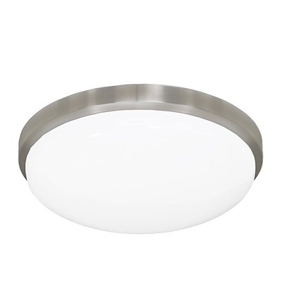 13 Inches Round Driverless AC LED Flush Mount Ceiling Fixture or ADA Sconce with Acrylic Shade 90CRI Brushed Nickel in 2700K